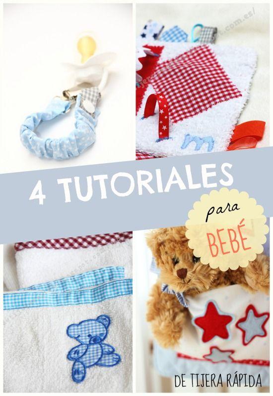 4 tutoriales de costura muy fáciles para tu bebé.