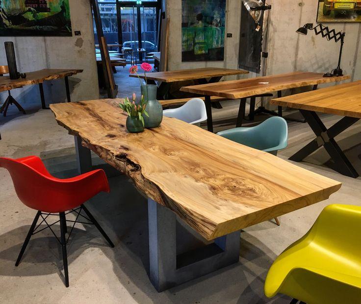 massivholztisch dinningtable aus ulmenholz unverleimt aus einem st ck. Black Bedroom Furniture Sets. Home Design Ideas
