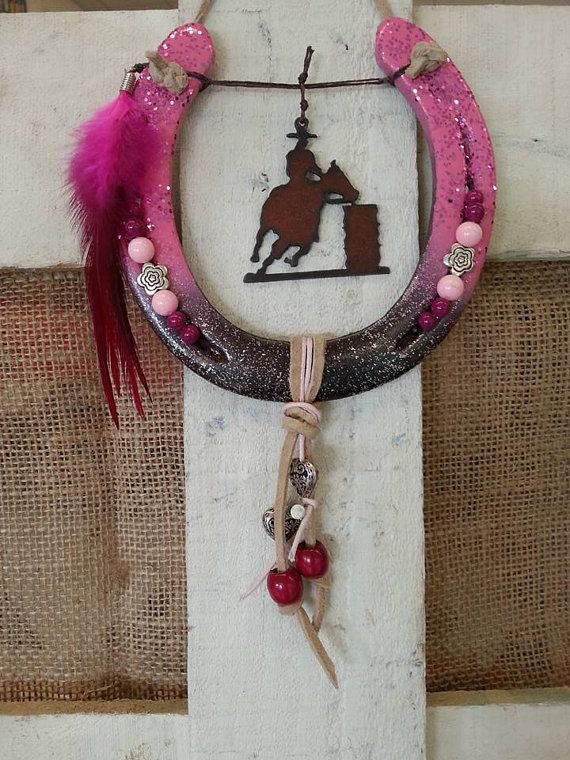 Horseshoe decor decorated horseshoe gift for by for How to decorate horseshoes