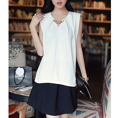Mujeres Lewen moda de Nueva elegante camisa sin mangas de la perla - USD $ 14.80