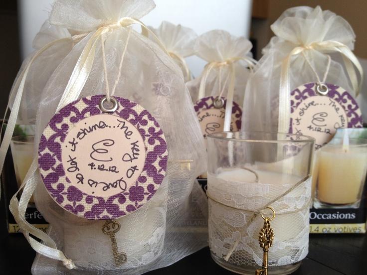 Pinterest Bridal Shower: Simple, DIY Bridal Shower Favors :-)