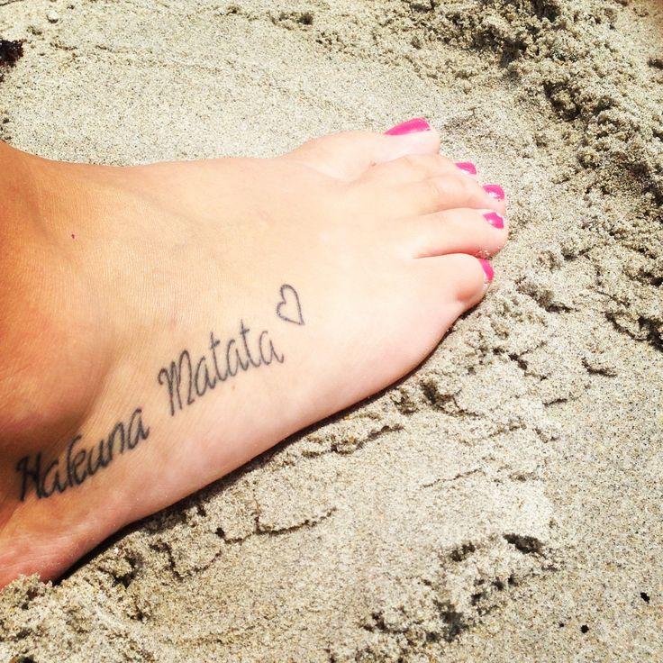 my Hakuna Matata tattoo
