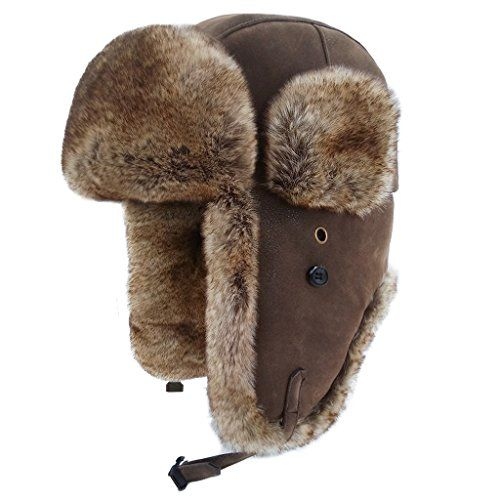 LETHMIK Winter Faux Fur Hunting Hat Unisex Trapper Russia... #hat #warm   #knit   #fur  #stylish #thick #comfy #winter   #cold  #weather #cozy #slouchy #loose  #cap  #snow  #fluffy #furry   #winterfashion #fashion #menfashion #shopping #gift #menhat #menwinterhat