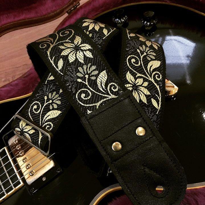 Pailin Straps 5820 P5820B0 Ivy Flower Black Beauty Gibson Les Paul Custom