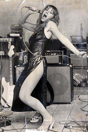Helen Mirren rocking out in leather in 1975,
