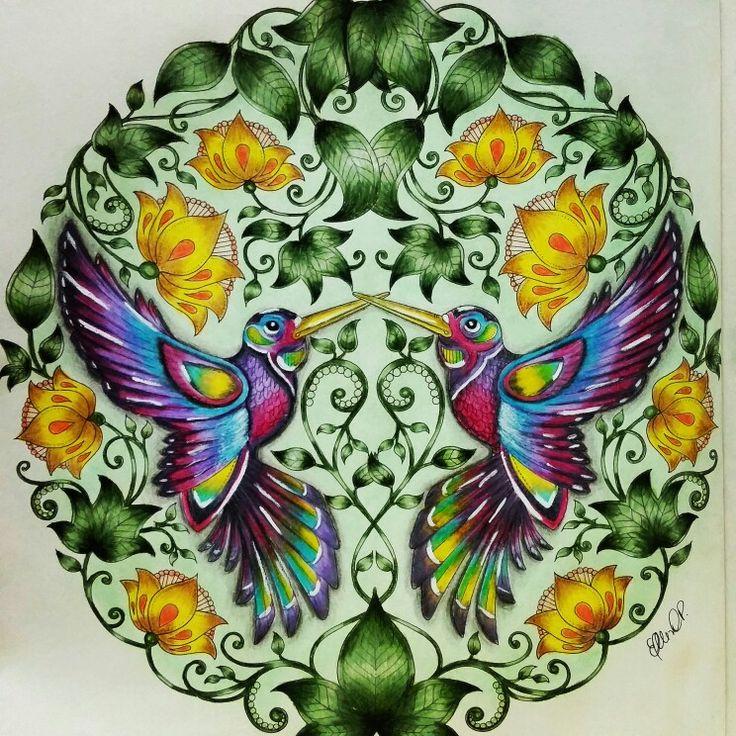 Beija flor by Ellen Cortez Paglianti #jardimsecreto #livrodecolorir #jardimsecretotop #jardimsecretomg #florestaencantada