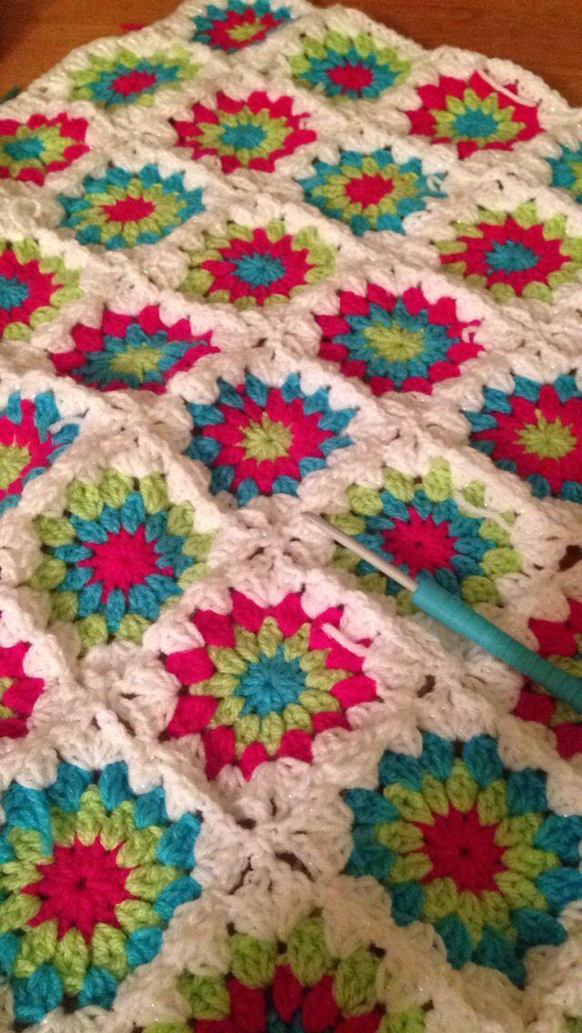 Granny square blanket crochet