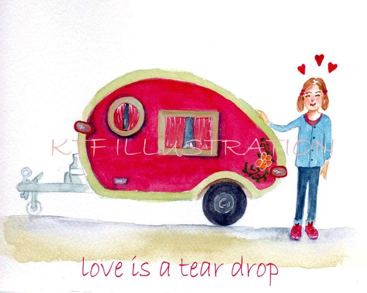 Love is a Tear Drop Digital down load by inkcat on Etsy
