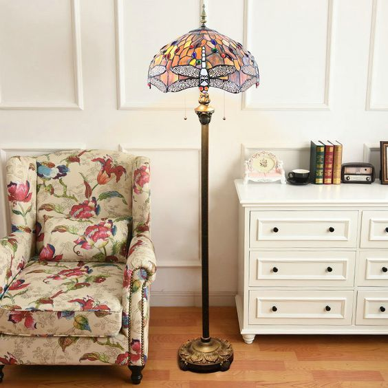 Tiffany-Stil Stehlampe Libelle Malerei im Wohnzimmer zu günstigen