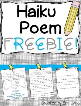 FREEBIE from my NO PREP, five week poetry unit! Everything you need, start to finish!