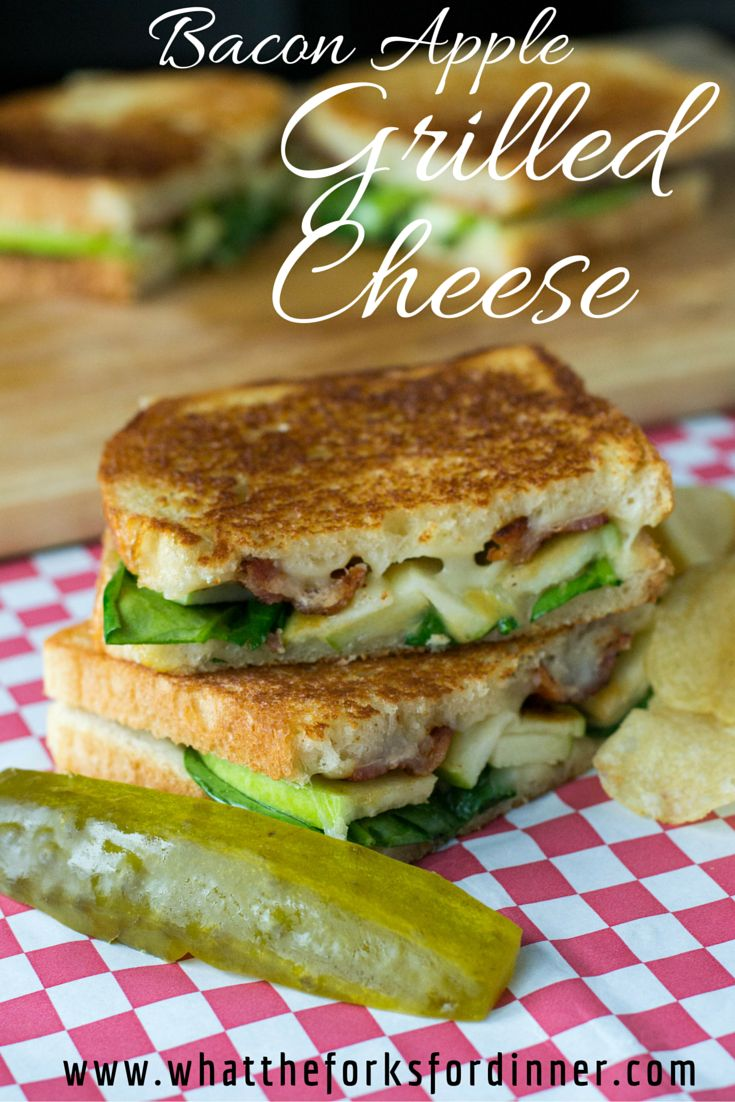 Grilled cheese deluxe!!!!Bacon Apple Grilled Cheese - Warm, toasty, cheesy with the crunch of apple and the sweet zing of honey mustard.