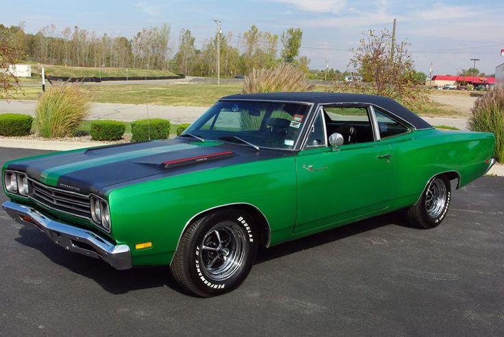 "1969 Plymouth Roadrunner In ""Sassy Grass"" Green."