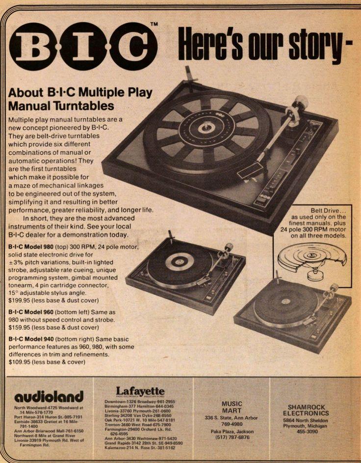 BIC Turntable Advertisement.