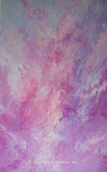 X-Large original gallery style acrylic painting by Suzanna Dénes