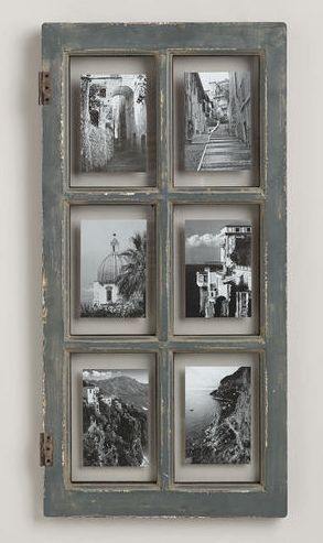 Rustic gray window frame rstyle.me
