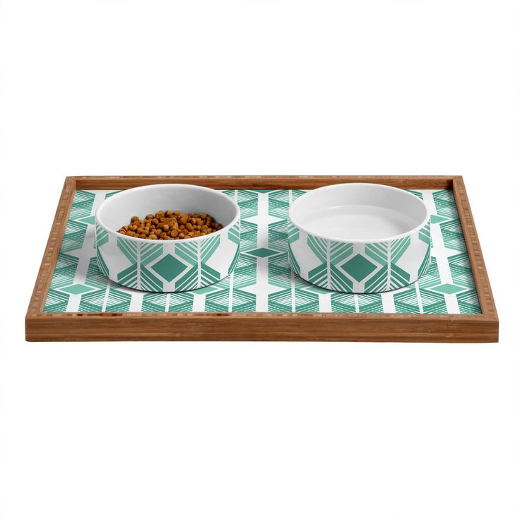 Heather Dutton De Lux Mint Pet Bowl and Tray   DENY Designs Home Accessories