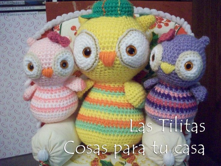 souvenir lechuza tejida crochet - amigurumis animales