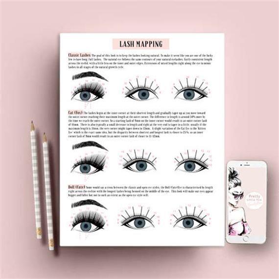 Eyelash Extension Mapping Sheets Eyelash Extension Forms Etsy Eyelash Extensions Eyelashes Lash Extensions