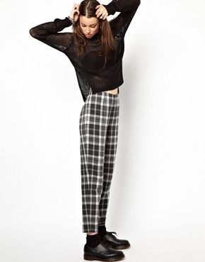 Image 1 of Cheap Monday Checked Trousers