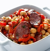 Chickpeas with chorizo and pimientos del piquillo Recipe - Quick and easy at countdown.co.nz