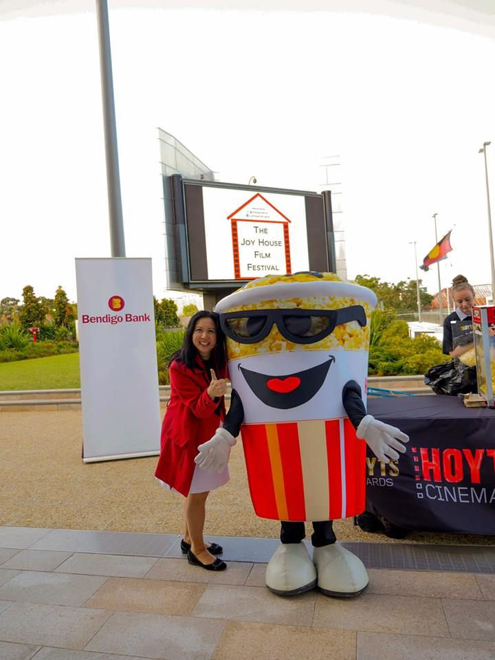 The Hoyts Mascot and me @ The Joy House Film Festival