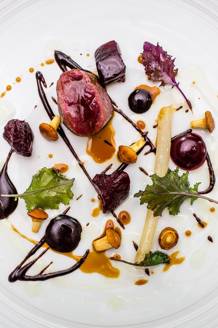 Michael Wignall's roe deer recipe is a stunning mix of earthy, sweet and smoky autumnal flavours, comprised of a heady mix of black pudding, beetroot, girolles and salsify.