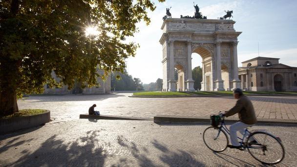 Milan, Italy, Piazza Sempione, Sempione Park, arch of peace
