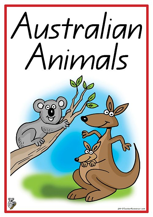 Australian Animals - 20 Words And Picture Cards - K-3 Teacher Resources