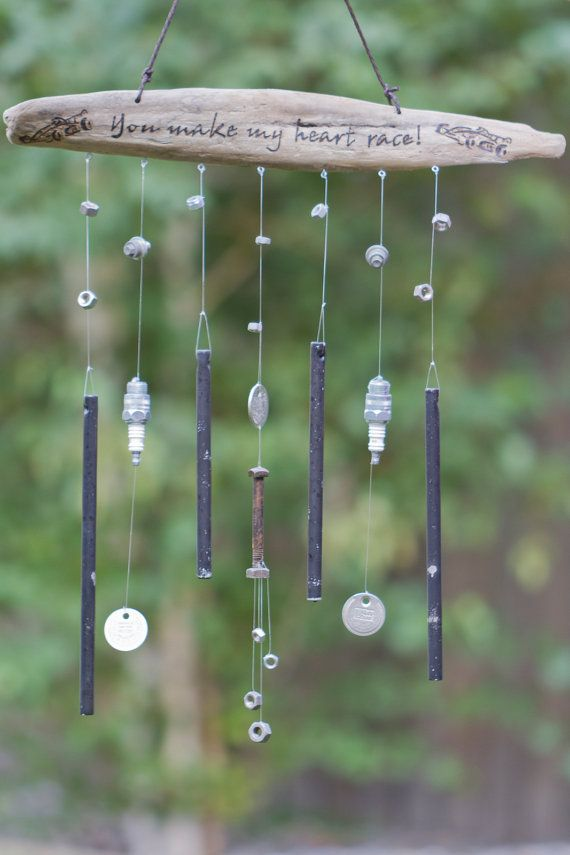 Custom Wind Chime made with Oregon Driftwood by OnceUponAShore, $85.00