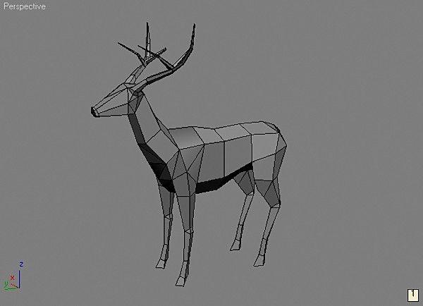 deer gray low poly - photo #33