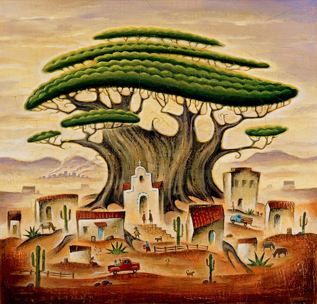 The beautiful Árbol del Tule handpainted by Tim Zeltner. Happy Cinco De Mayo. Represented by i2i Art Inc. #i2iart
