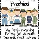 Enjoy this freebie from my Veterans Day unit!Get the full unit here: http://www.teacherspayteachers.com/Product/Honoring-Our-Soldiers-A-Veterans-...