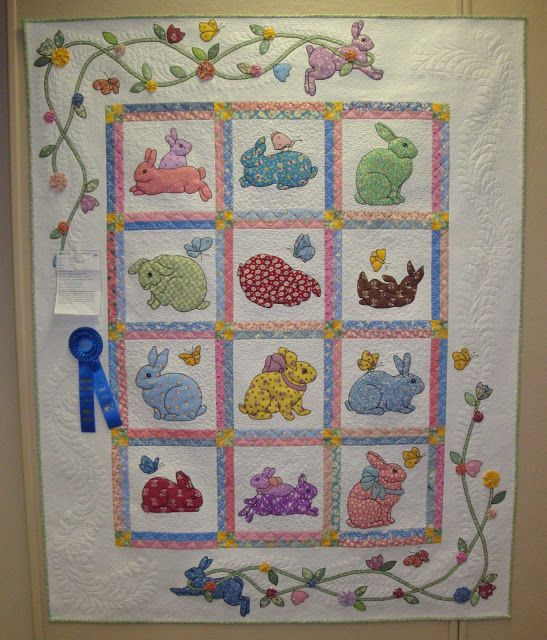 Bunnies are Still Waiting for Baby by Ruth Royer as shown in FABRIC THERAPY