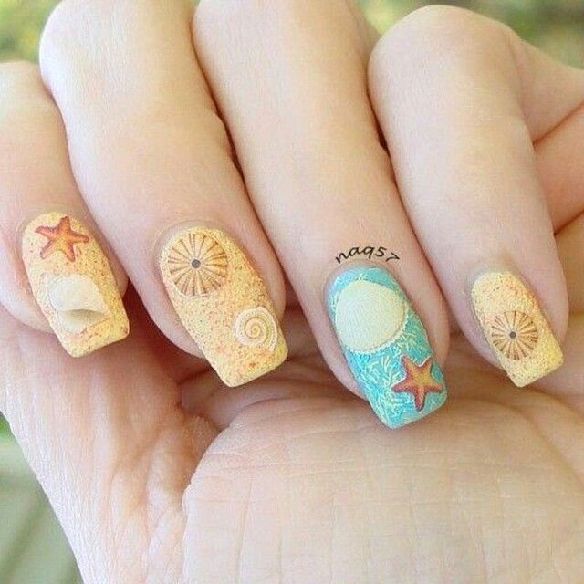 183 best beautiful nails images on pinterest beautiful nail art beach theme nail art design with nicole by opi sand in my shoe prinsesfo Image collections