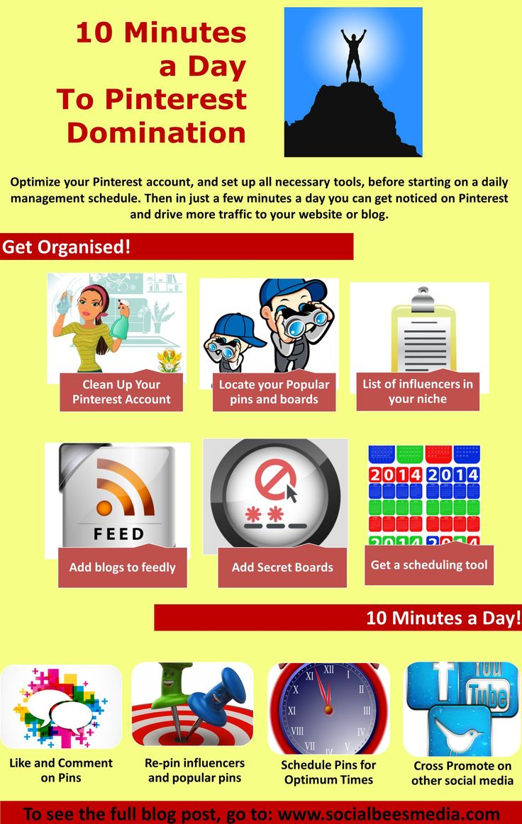 How to manage your pinterest account in just 10 minutes a day. http://socialbeesmedia.com/manage-your-pinterest-account-in-just-10-minutes-a-day/