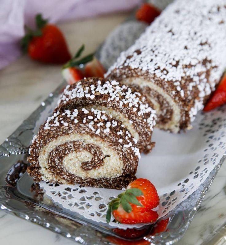 Chokladbollsrulltårta | Tidningen Hembakat