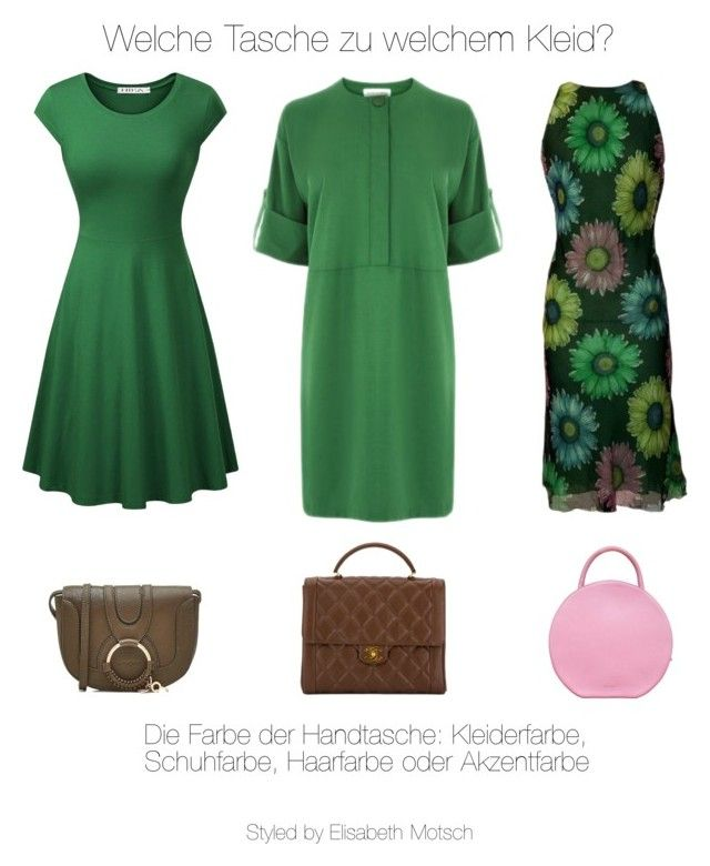"""Welche Tasche zu welchem Kleid!"" by motsch on Polyvore featuring Mode, Warehouse, Versace, Mansur Gavriel, See by Chloé und Chanel"
