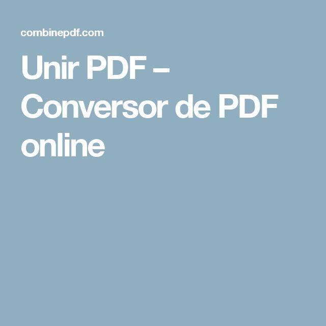 Unir PDF – Conversor de PDF online