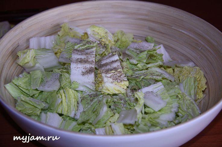 заправка для салата из пекинской капусты