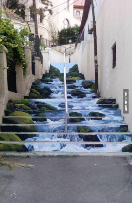 Street art in Bucharest. River