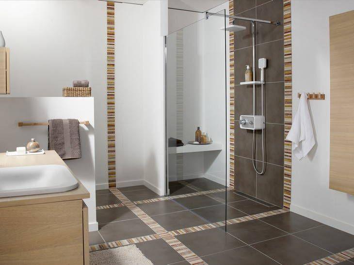 27 best images about salle de bain on pinterest for Salle de bain carrelee jusqu au plafond