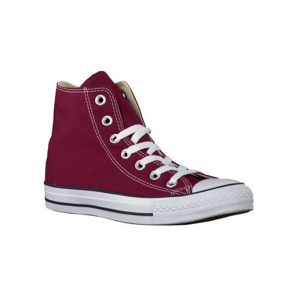 Rode Converse sneakers HI CORE ($73) ❤ liked on Polyvore featuring shoes, sneakers, converse shoes, converse footwear, converse trainers and converse sneakers
