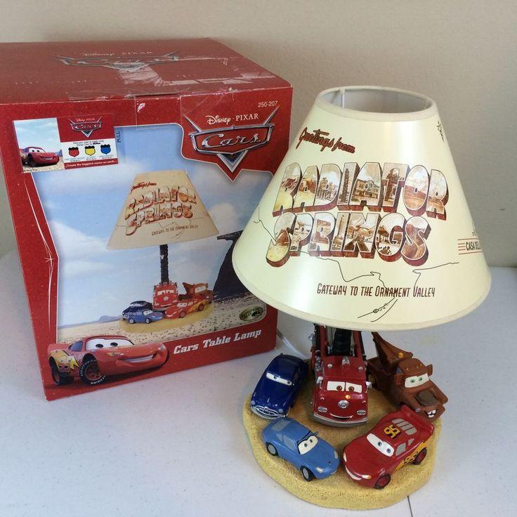 Rare Disney Pixar CARS TABLE LAMP Radiator Springs Hampton