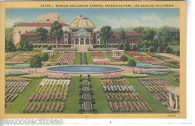 Museum and Sunken Gardens,Exposition Park-Los Angeles,California