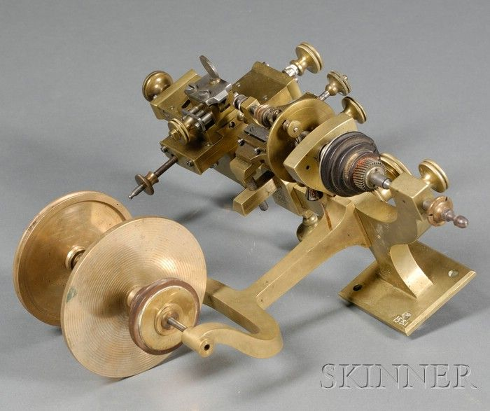 Brass Watchmaker's Lathe | Sale Number 2502, Lot Number 61 | Skinner Auctioneers