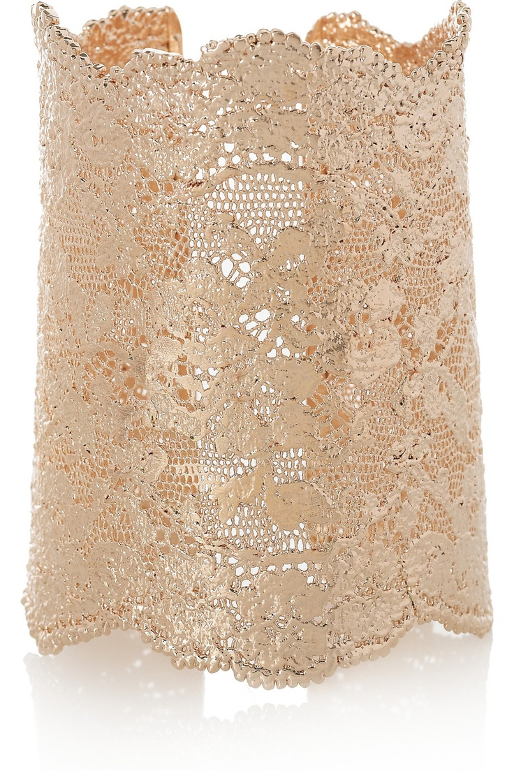 AURÉLIE BIDERMANN rose gold lace cuff