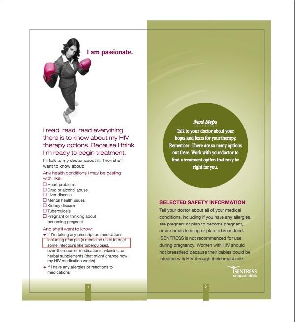 Patient Brochure  Isentress    Brochures