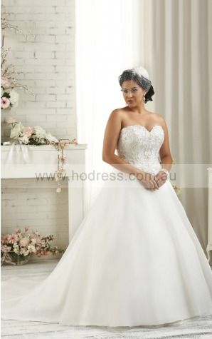 Sleeveless Lace-up Organza Sweetheart Ball Gown Wedding Dresses fycf1099--Hodress