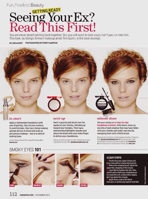 Ever wonder how a redhead should go about doing a smokey eye? The December issue of Cosmopolitan magazine has a step-by-step tutorial on how to do a dramatic eye and it demonstrates how well the look complements red hair. We spoke with Ashley Rebecca, NYC redhead mak