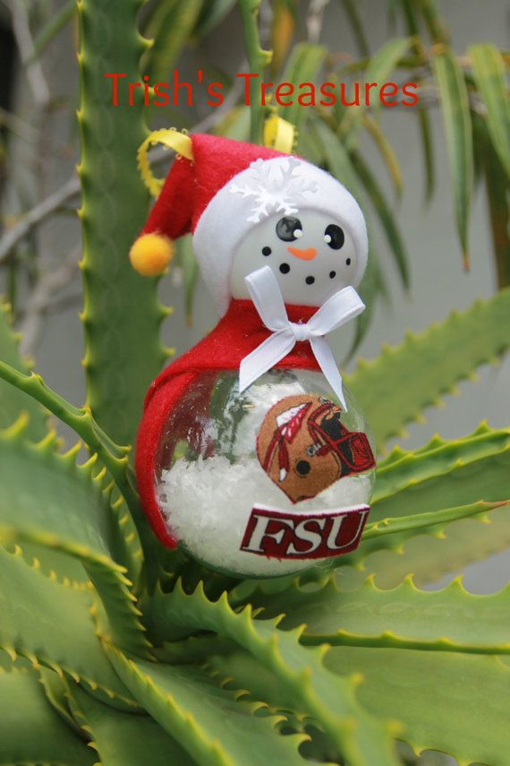 Florida State University College Football Snowman Christmas Ornament